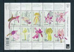 Nederland 2014 Orchideeen velletje  NVPH 3175-84
