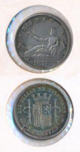 Spanje 1870 2 peseta