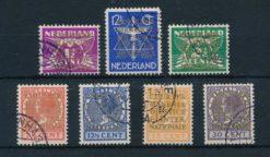 Nederland 1934-1938 Dienstzegels Opdruk COUR PERMANENTE DE JUSTICE INTERNATIONALE NVPH D9-D15