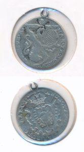 Oostenrijkse Nederlanden 1767 zilveren schelling met oogje