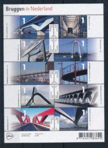 Nederland 2015 Bruggen in Nederland vel NVPH 3275-84