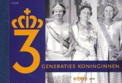 Nederland 2009 3 Generaties koninginnen prestigeboekje PR24