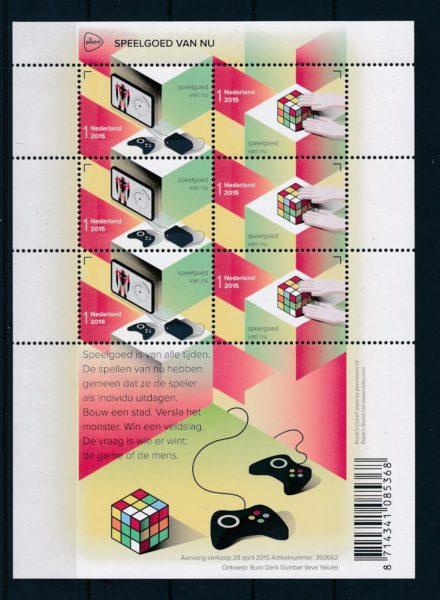 Nederland 2015 Europazegels Speelgoed van nu vel NVPH V3287-88 1
