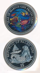 Palau 1992 1 dollar