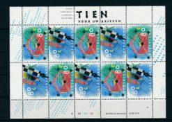 Nederland 1993 Tien voor uw brieven Velletje NVPH V1571-72