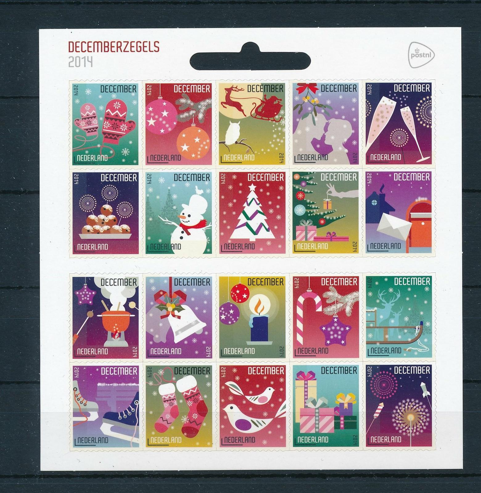 Nederland 2014 velletje Decemberzegels  NVPH V3236-55