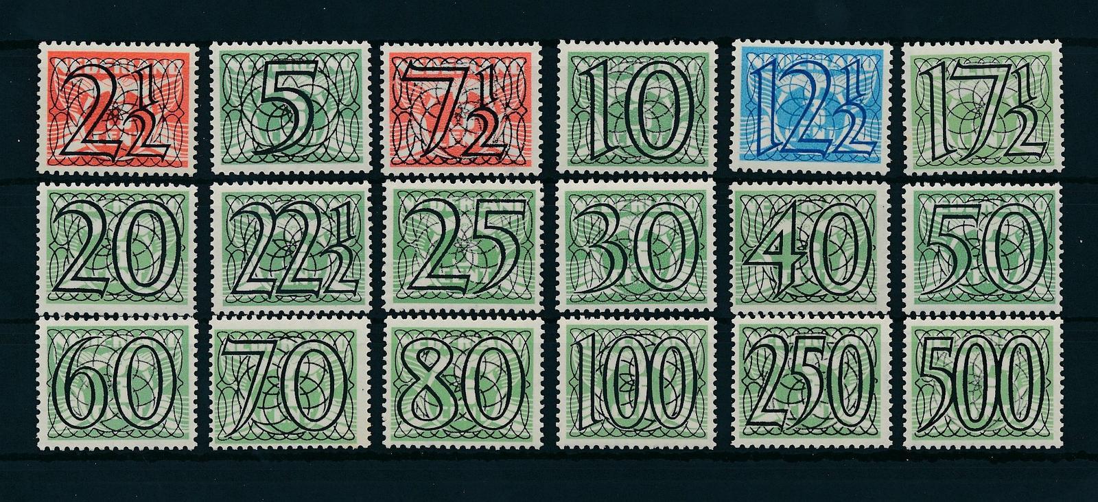 Nederland 1940 Frankeerzegels Tralie 18 waarden NVPH 356-73