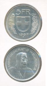 Zwitserland 1967 B 5 franc