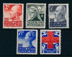Nederland 1927 Rode Kruis Zegels  NVPH 203-07