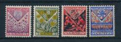 Nederland 1927 Kinderzegels  NVPH 208-11