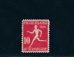 Nederland 1928 Olympiade Amsterdam 10 + 2 ct Lijntanding 12 x 11,5 NVPH 217A
