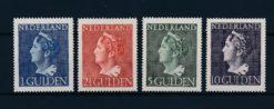Nederland 1946 Koningin Wilhelmina. Hoge waarden type Konijnenburg NVPH 346-49