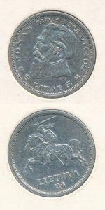Litouwen 1936 5 litai