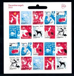 Nederland 2015 Decemberzegels vel NVPH V3363-72 met logo PostNL