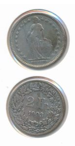 Zwitserland 1903 2 franc
