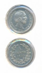 Nederland 1850 5 cent Willem III