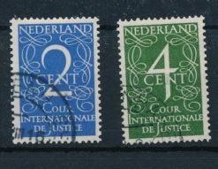 Nederland 1950 Dienstzegels Cour Internationale de Justice type Van Krimpen NVPH D25-D26