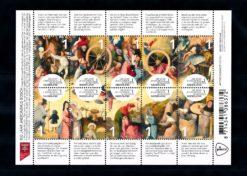 Nederland 2016 500 Jaar Jheronimus Bosch vel NVPH 3376-85
