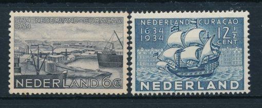 Nederland 1934 Curacao  NVPH 267-68 1