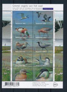 Nederland 2016 Griend Vogels van het wad vel NVPH 3401-10