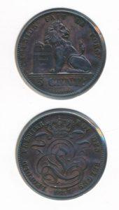 Belgie 1857 5 cent