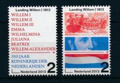 Nederland 2013 200 jaar koninkrijk, Landing Willem I NVPH  3133-34