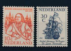 Nederland 1957 De Ruyter-zegels NVPH  693-94