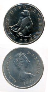 Gibraltar 1971 25 pence