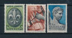 Nederland 1937 Wereld Jamboree Vogelenzang  NVPH 293-95
