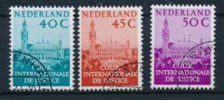 Nederland 1977 Dienstzegels Cour Internationale de Justice Vredespaleis aanvullingswaarden NVPH D41-D43