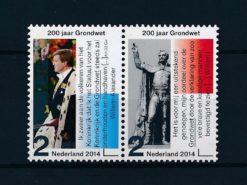 Nederland 2014 200 Jaar koninkrijk 200 Jaar grondwet NVPH 3171-72