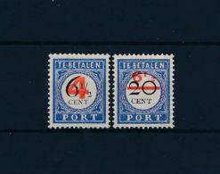 Nederland 1906-1909 Overdruk NVPH P29-P30