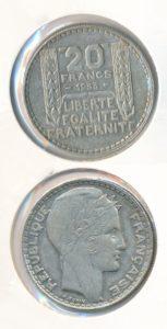Frankrijk 1933 20 franc