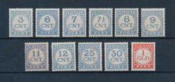 Nederland 1921-1938 Cijfer NVPH P69-P79