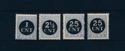 Nederland 1923 Overdruk NVPH P61-P64
