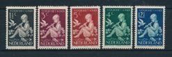 Nederland 1938 Kinderzegels  NVPH 313-17