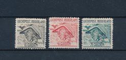 Nederland 1929 Mercurius NVPH LP6-LP8