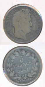 Frankrijk 1841 W 5 franc