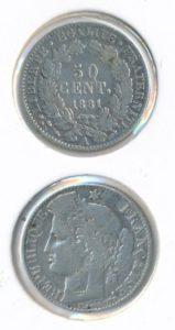 Frankrijk 1881 A 50 cent