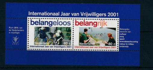 Nederland 2001 Vrijwilligers blok  NVPH 1968 1