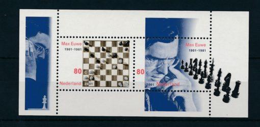 Nederland 2001 Max Euwe Schaak blok  NVPH 1969 1