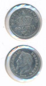 Frankrijk 1866 BB 20 cent