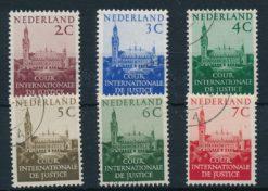 Nederland 1951-1953 Dienstzegels Cour Internationale de Justice Vredespaleis NVPH D27-D32