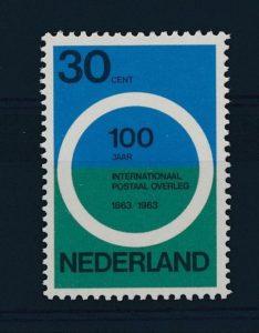 Nederland 1963 100 jaar internationaal postaal overleg NVPH 791