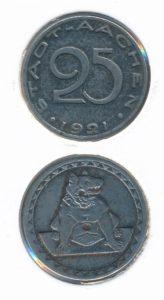 Duitsland Aachen 1921 25 cent