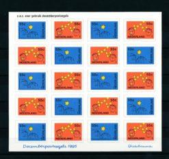 Nederland 1995 velletje Decemberzegels  NVPH V1662-63