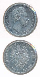 Duitsland Beieren 1876 D 2 mark