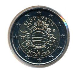 Slowakije 2012 2 Euro 10 Jaar Euro