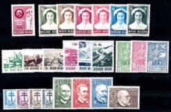 Belgie 1953 Complete jaargang postzegels postfris
