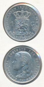 Nederland 1892 1 Gulden Wilhelmina